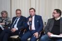 Od lewej Joanna Piłka, Tomasz Sieradz, Marcin Wodziński oraz Andrzej Drozd Wiceprezes Polsko-Ukraińskiej Izby Gospodarczej